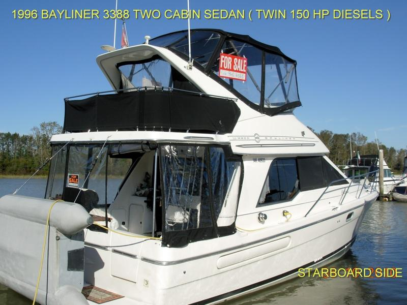 1996 Bayliner 3388 Sedan Bridge located in Washington for sale