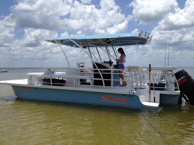 2010 Catamaran Coach TriToon located in Florida for sale