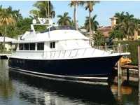 1996 Miami Florida 74 Hatteras Motor Yacht