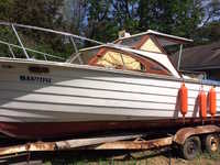 1976 Minnetonka Minnesota 24 Skiff Craft Hard Top Cabin Cruiser